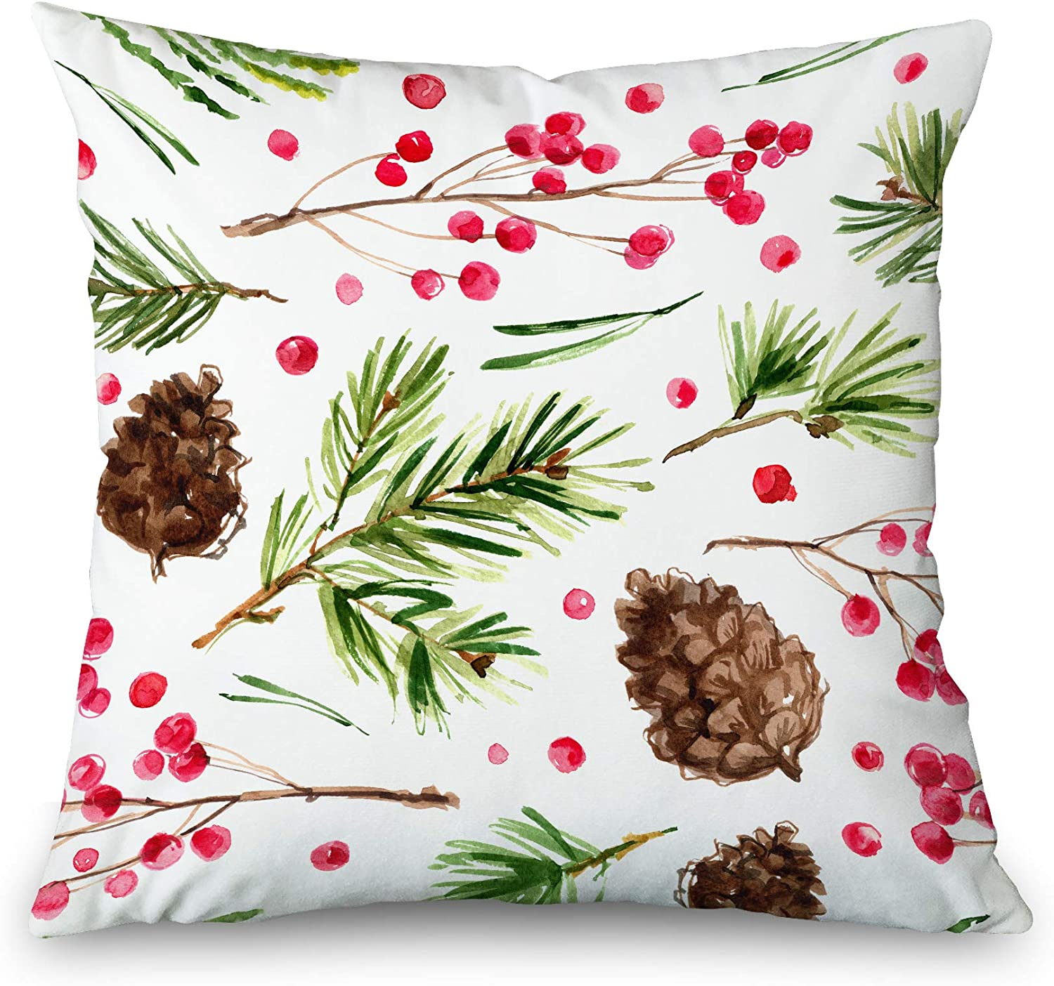 Toobaso Dedication Inexpensive Decorative Throw Pillow Cover 20x20 Square Chris Pattern