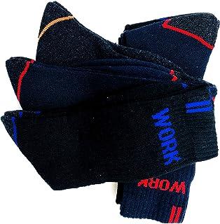 Calcetines de trabajo seguridad, talón y puntera reforzados, ideal para el uso de seguridad y para deportes de invierno o situaciones de frío y humado