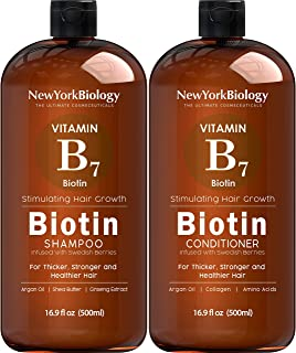 Biotin Shampoo and Conditioner Set for Hair Growth and Thinning Hair – Thickening Formula for Hair Loss Treatment – For Me...