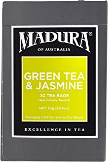 Madura Green and Jasmine 20 Enveloped Tea Bags, 1 x 30 g