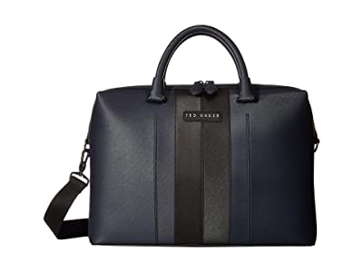 Ted Baker Vin Twill PU Document Bag (Navy) Briefcase Bags