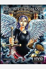 Gods & Goddesses - Fantasy Art Adult Coloring Book Paperback