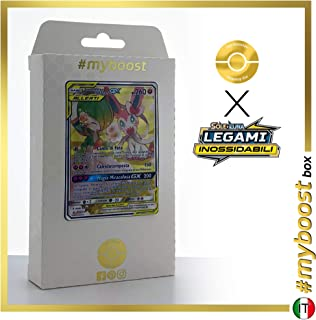Gardevoir E Sylveon-GX (Gardevoir & Sylveon-GX) 205/214 Alternative Full Art - #myboost X Sole E Luna 10 Legami Inossidabili - Box of 10 Pokemon Italian Cards