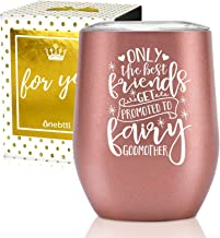 Onebttl Godmother Gifts, Stainless Steel Wine Tumbler for Best Friend, Aunt, Sister..