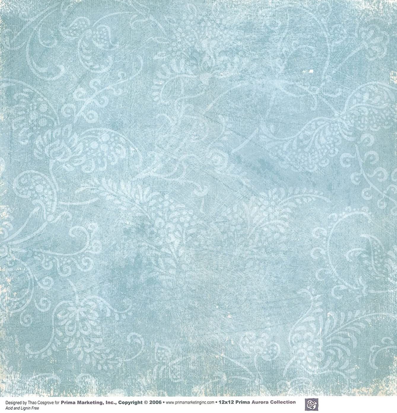 Prima 601515 12 by 12-Inch Aurora Double Sided Patterned Cardstock Paper, Morning Song, 25-Pack