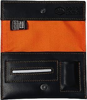 Pellein - Portatabacco in vera pelle Arancio Pulse - Astuccio porta tabacco, porta filtri, porta cartine e porta accendino...