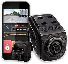 جلوپنجره Rexing V1P 3rd Generation Dual 1080p Full HD Front و عقب 170 درجه از زاویه دید وسیع Wi-Fi بادامک اتومبیل با Supercapacitor ، صفحه نمایش LCD 2.4 اینچی ، سنسور G ، ضبط حلقه ، برنامه موبایل