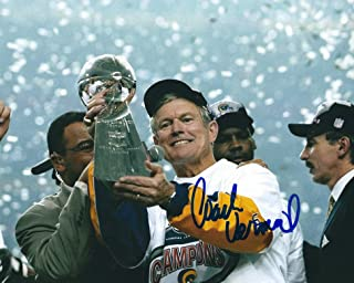 Autographed 8x10 Dick Vermeil St. Louis Rams Photo