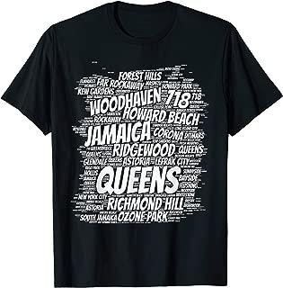 Born raised in queens borough new york city T-shirt