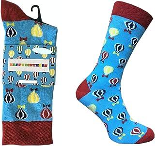 – Calcetines con diseño – Happy Birthday – Regalo para hombre y mujer – Medias, 41 – 44