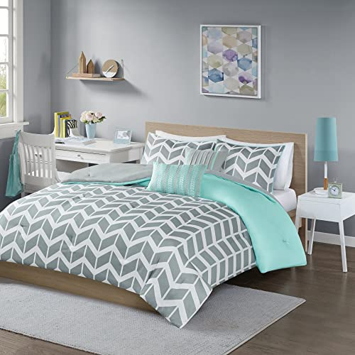 Intelligent Design Nadia Comforter Set Teal Twin/Twin XL