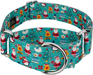 Country Brook Petz - 1 1/2 Inch Martingale Dog Collar - Christmas Collection