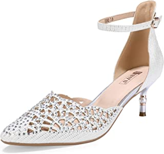 IDIFU Women's IN2 Candice Rhinestones Sequins Mid Heels...