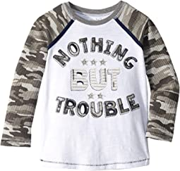 Trouble Camo Long Sleeve Raglan T-Shirt (Infant/Toddler)