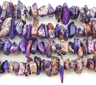 COIRIS 15'' Strand 9-14MM Real Natural Purple Imperial Jasper Chips Stone Loose BeadsS for Necklace Jewelry DIY Making Design (St-1080)