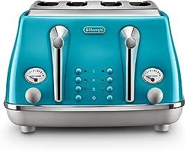 De'Longhi Icona Capitals 4 Slice Toaster, Lisbon Azure, CTOC4003AZ