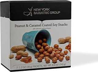 New York Bariatric Group Protein Peanut and Caramel Coated Soy Snacks - Low Calorie - Low Carb - Low Fat - 15g of Protein - Gluten Free - Apertame Free