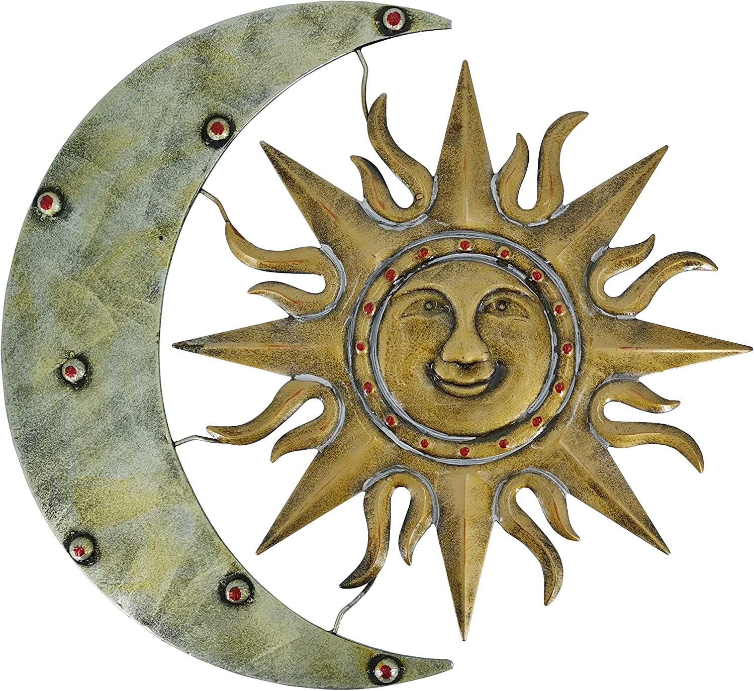 Aztec Sun And Moon Metal Wall Dec Decor Ranking Be super welcome TOP12 and