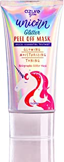 Unicorn Holographic Illuminating Glitter Peel Off Mask - Exfoliate Pores, Acne, Dirt & Oils| Tones & Moisturizes | Packed with Vitamins for Smooth & Fresh Skin - 150ml