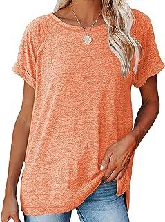 Women's Casual T-Shirts Crewneck Short Sleeve Summer Top...