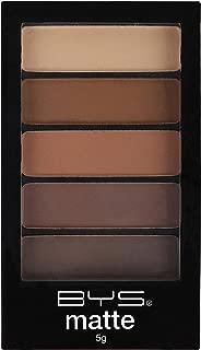 BYS 5 Shades Eyeshadow Compact Eye Makeup Palette with Applicator - Matte Desert Safari