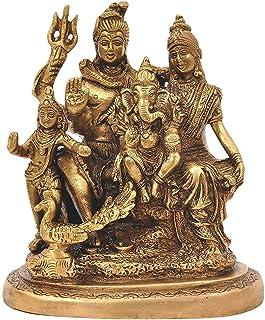 White Whale Brass Hindu God Shiv Parivar Bhagwan Shiv Parivar idol Statue Murti