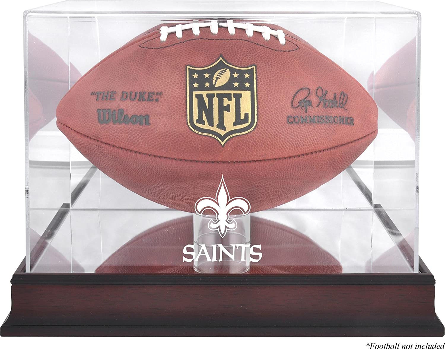 New Orleans Saints Mahogany Football Mirr Logo sold out with Case Display Indefinitely