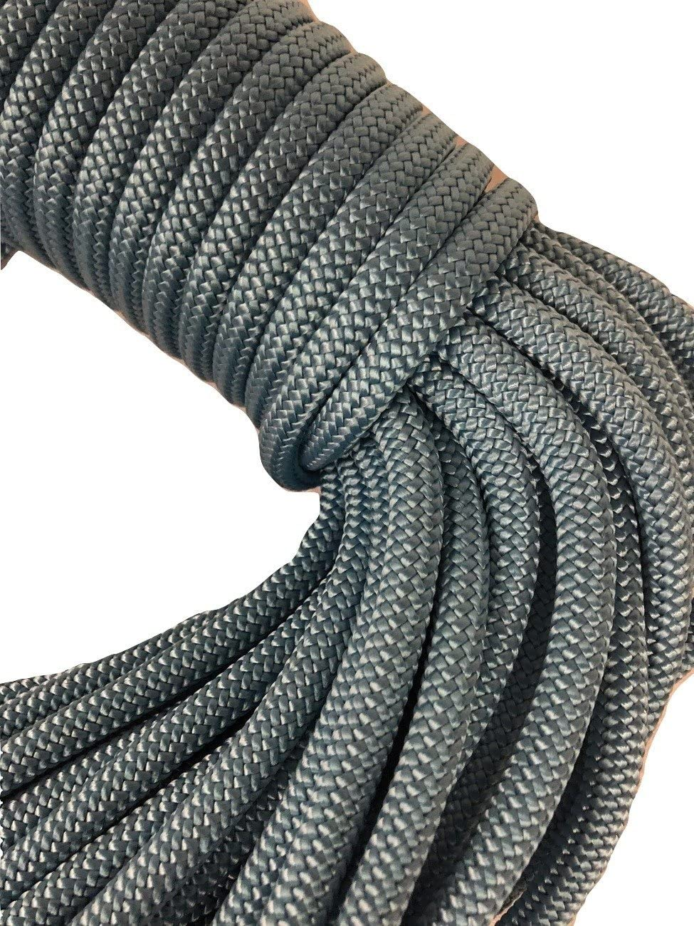 Double Braid Nylon Seasonal Wrap Introduction Rope 3 8 50 New arrival Blue Light inch ft