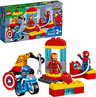 LEGO DUPLO Super Heroes Lab 10921 Marvel Avengers Superheroes Construction Toy and Educational Playset for Toddlers, New 2...