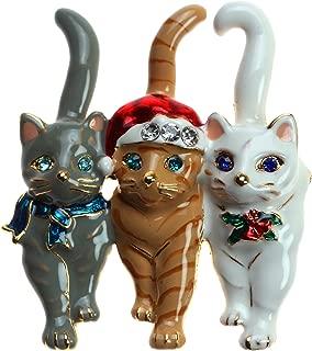 Christmas Triple Cat Pin