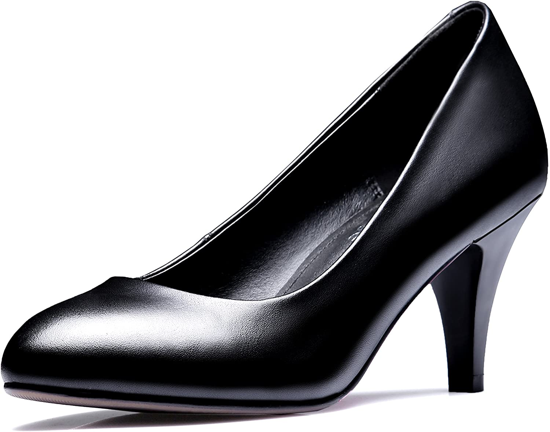 JIEEME Ladies Sexy Thin Heels Genuine Leather Business Women Pumps Black High Heels Women shoes
