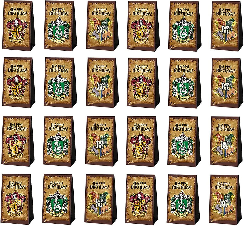 24 Piezas Bolsas de Papel, Bolsas de Papel Kraft Party, Bolsa de Papel para Fiestas Navideñas, para Chuches Bolsas Regalo Papel, Cajas De Regalo