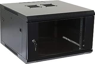 6U Professional Wall Mount Network Server Cabinet Enclosure 19-Inch Server Network Rack Black (Fully Assembled)