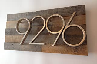 Reclaimed Wood Address Plaque - Rustic, Reclaimed Wood, Vintage, Custom, House Numbers, Address Sign