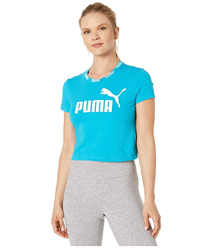 PUMA Amplified Cropped Tee (Caribbean Sea) Women
