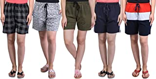 69GAL Women's Cotton Shorts Pack of 5