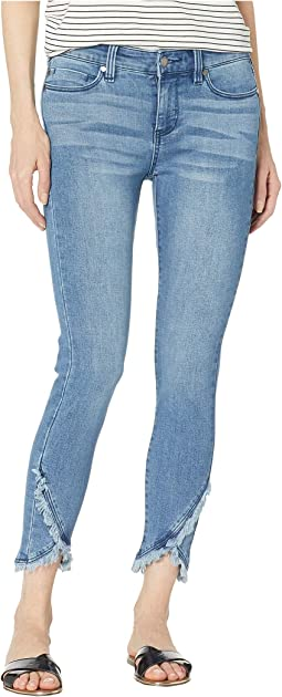 Abby Crop Skinny Front Scallop Hem Jeans in Eco-Friendly Denim in Ibiza