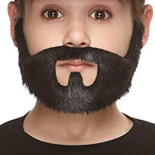 Mustaches Fake Beard, Self Adhesive, Novelty, Small On Bail False Facial Hair, Costume Accessory for Kids