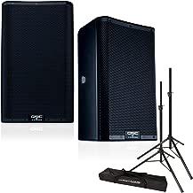 QSC K8.2 8-Inch 2000 Watt Powered Speakers (Pair) with Speaker Stands