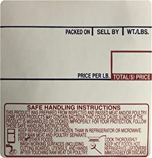 CAS LST-8040 Printing Scale Label, 58 x 60 mm, UPC/Safe Handling 36 Rolls Per Case. Lower Price Than 12 Rolls. Try it!