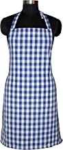 Airwill, 100% Cotton Yarn-Dyed Designer Checked Weave Aprons, Sized 65cm in Width & 80cm in Length with 1 Center Pocket, Adjustable Buckle on Top and 2 Long Ties On Both 2 Sides. Pack of 1 Piece