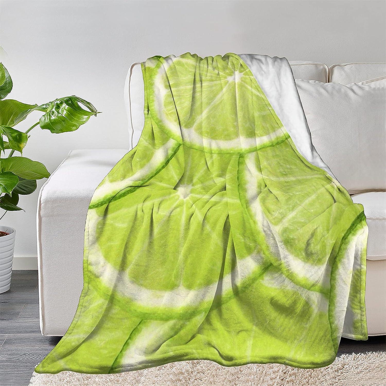 FUNDESIGN Summer Lemon Mesa Mall Branded goods Fruit Flannel Blanket Ultra L Throw Soft