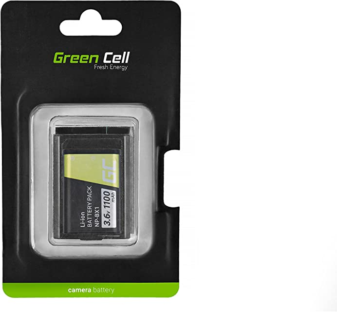 Green Cell® Batería para Cámara Sony DSC-HX400V Full Decoded (Li-Ion Celdas 1100mAh 3.6V)