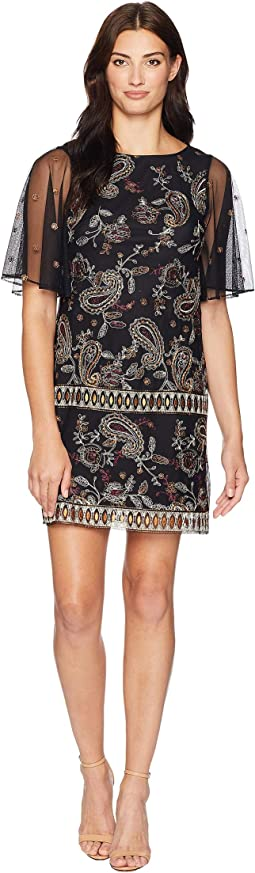 Paisley Embroidered Shift