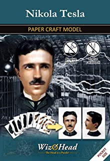 Nikola Tesla - Paper Craft Model, 3D Assembly Puzzle, Home Décor, Educational Birthday Gift
