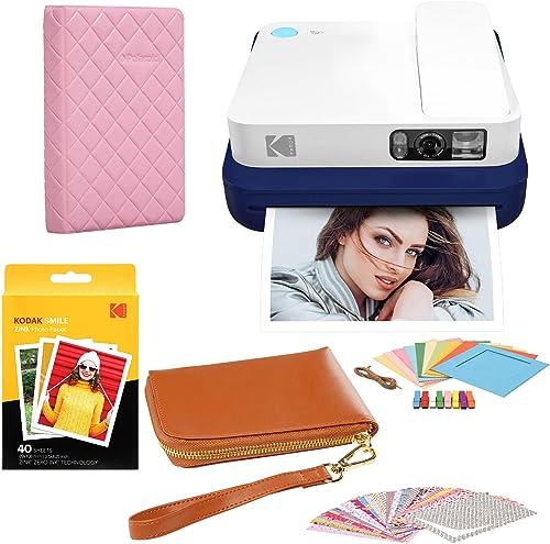 discount KODAK Smile wholesale Classic Digital Instant outlet sale Camera with Bluetooth (Blue) Travel Case Bundle online