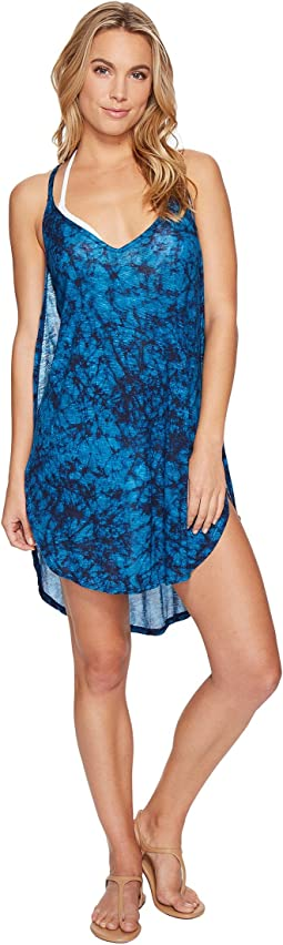 a63b22e945 Lucky brand smokescreen side shirred tunic cover up at 6pm.com