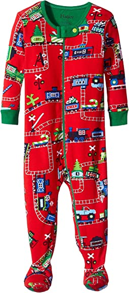 Hatley Kids - Holiday Train Footed Coverall (Infant)