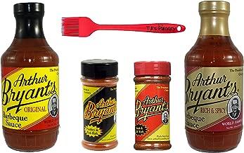 Arthur Bryants BBQ Sauce and Dry Rub Variety Bundle - 4 Pack + Bonus TJs Pantry Silicone Basting