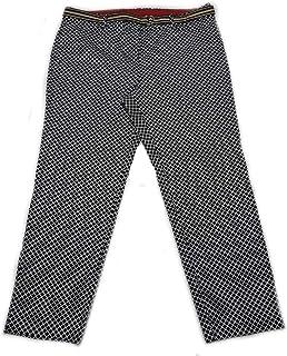Rafaella Womens Size 18 Comfort Straight Hip Slim Ankle Modern Pant, Black/Multi